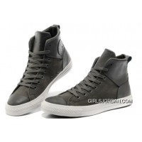 Grey CONVERSE Chuck Taylor All Star City Lights High Tops Black Leather Canvas Sneakers Authentic