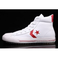 White Leather CONVERSE Padded Collar Korea CT All Star High Tops Shoes Super Deals