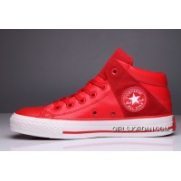 Red All Star CONVERSE Padded Collar Leather Terminator Genisys High Chuck Taylor Copuon Code