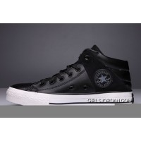Black High Tops CONVERSE Leather Padded Collar Terminator Genisys Chuck Taylor All Star Authentic