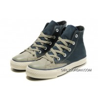 High Tops CONVERSE Christmas Collection Blue Grey Tonal Stitching Polk Canvas All Star Shoes Online