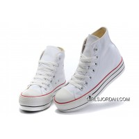 White Classic Platforms CONVERSE All Star Canvas Women Shoes Discount