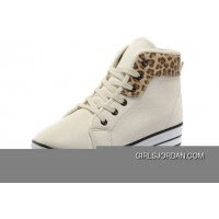 White CONVERSE All Star Platform Leather Leopard Copuon Code