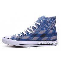 Unisex Blue CONVERSE Chuck Taylor American Flag Print All Star New Style