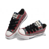 All Star CONVERSE American Flag Painted Grey Red Stripes Canvas Shoes Best