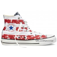 CONVERSE American Flag Red White Blue Chuck Taylor All Star Canvas Shoes Top Deals