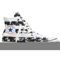 CONVERSE American Flag Black And White Chuck Taylor All Star Canvas Shoes Lastest