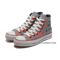 Grey Red American Flag CONVERSE Metal All Star The End Of The World Canvas Shoes Copuon Code