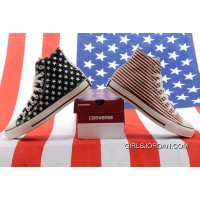 Jointly CONVERSE American Flag Stars And Stripes Black Red Chuck Taylor All Star High Tops Canvas Sneakers Online