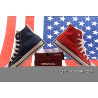 Jointly CONVERSE American Flag Blue & Red Chuck Taylor All Star High Tops Canvas Sneakers Free Shipping