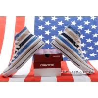 Paris Loves America Concepts & La MJC CONVERSE American Flag Chuck Taylor All Star Blue White Stripes High Tops Canvas Sneakers Online