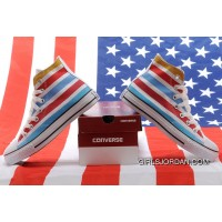 Jointly American Flag CONVERSE Chuck Taylor All Star Multi Colored Stripes High Tops Sneakers Online