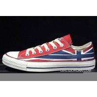 CONVERSE Rock Union Jack British Flag Red Blue Chuck Taylor All Star Canvas Sneakers For Sale