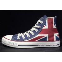 CONVERSE British Flag Rock Union Jack Red Blue Chuck Taylor All Star Canvas Sneakers Copuon Code