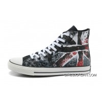 CONVERSE British Flag All Star Union Jack Flag Black Red Athletic Shoes Online