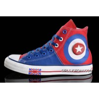 Harper Beckham CONVERSE British Flag Blue Red Tonal Stitching Canvas Discount