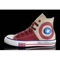 Harper Beckham CONVERSE UK Flag Wine Red Beige Tonal Stitching Canvas Super Deals