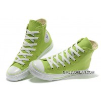 Fresh CONVERSE New Color Dazzling Light Green Chuck Taylor All Star Canvas Women Sneakers Best