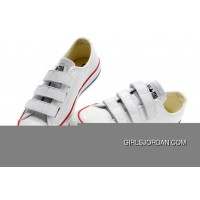 White CONVERSE All Star Chuck Taylor 3 Strap Velcro Leather Sneaker Online