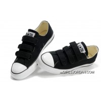 Velcro CONVERSE All Star Black 3 Strap Canvas Shoes For Sale