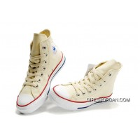 Beige CONVERSE Chuck Taylor All Star Unbleached White Canvas Shoes Discount