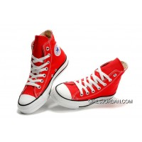 Red CONVERSE Chuck Taylor All Star Canvas Sneakers Online