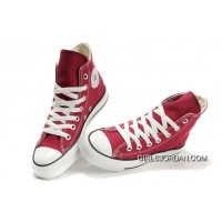 CONVERSE Chuck Taylor All Star Maroon Canvas Shoes Top Deals