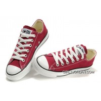 CONVERSE Chuck Taylor All Star Maroon Canvas Shoes Best