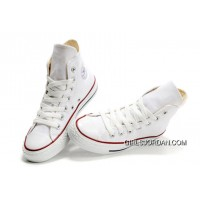 CONVERSE High Top Chuck Taylor All Star Optical White Canvas Shoes New Style