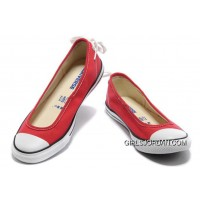 Red CONVERSE All Star Light Summer Collection Ballet Flats Dainty Ballerina Canvas Ladies Shoes New Style