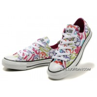 CONVERSE All Star Peace And Love White Canvas Shoes Women For Sale