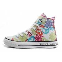 Womens CONVERSE All Star Peace And Love White Canvas Shoes Copuon Code