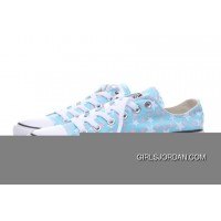 Blue CONVERSE Stars Print Chuck Taylor All Star Women Free Shipping