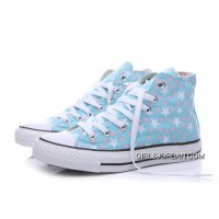 Blue CONVERSE Small Stars Print Chuck Taylor All Star Women Best