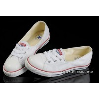 White CONVERSE Ballet Flats Dainty Ballerina Chuck Taylor All Star Summer Traning Shoes For Ladies Women Girls New Style