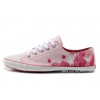 Flats CONVERSE Pink All Star CONVERSE Ballet Flats Girls Shoes Flocking Canvas For Sale
