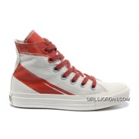 CONVERSE Girls Red White Painted Shoes Women For Sale