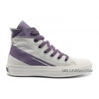 CONVERSE Girls White Purple Painted Shoes Women Top Deals