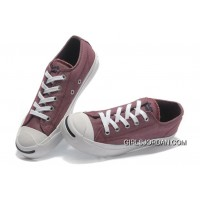 Red CONVERSE Jack Purcell Vintage Washed Canvas Shoes Free Shipping