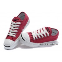 Red CONVERSE Jack Purcell Overseas Canvas Shoes Top Deals