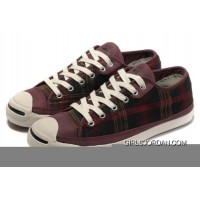 CONVERSE Jack Purcell Scotland Plaid Canvas Leather New Style