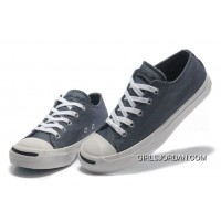 Blue CONVERSE Jack Purcell Vintage Washed Canvas Shoes New Style