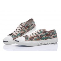 CONVERSE Jack Purcell Profile Camo Slip Army Green Canvas Low Cheap To Buy