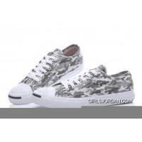 Grey CONVERSE Jack Purcell Profile Camo Slip Canvas Low New Style