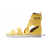 Yellow All Star CONVERSE Chuck Taylor Elastic Band Roman Sandals Best