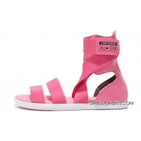 Pink CONVERSE Chuck Taylor All Star Gore Roman Sandals New Release