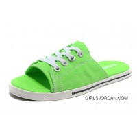 Green CONVERSE Slippers All Star Light Summer Collection By Avril Lavigne Canvas Authentic