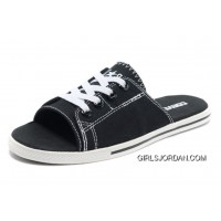 Black CONVERSE All Star Light Slippers Summer Collection By Avril Lavigne Canvas New Style