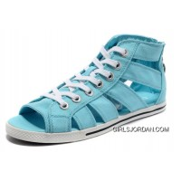 Sky Blue All Star CONVERSE Roman Shoes By Avril Lavigne Canvas Authentic