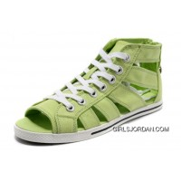 Light Green CONVERSE All Star Roman Shoes By Avril Lavigne Canvas Discount